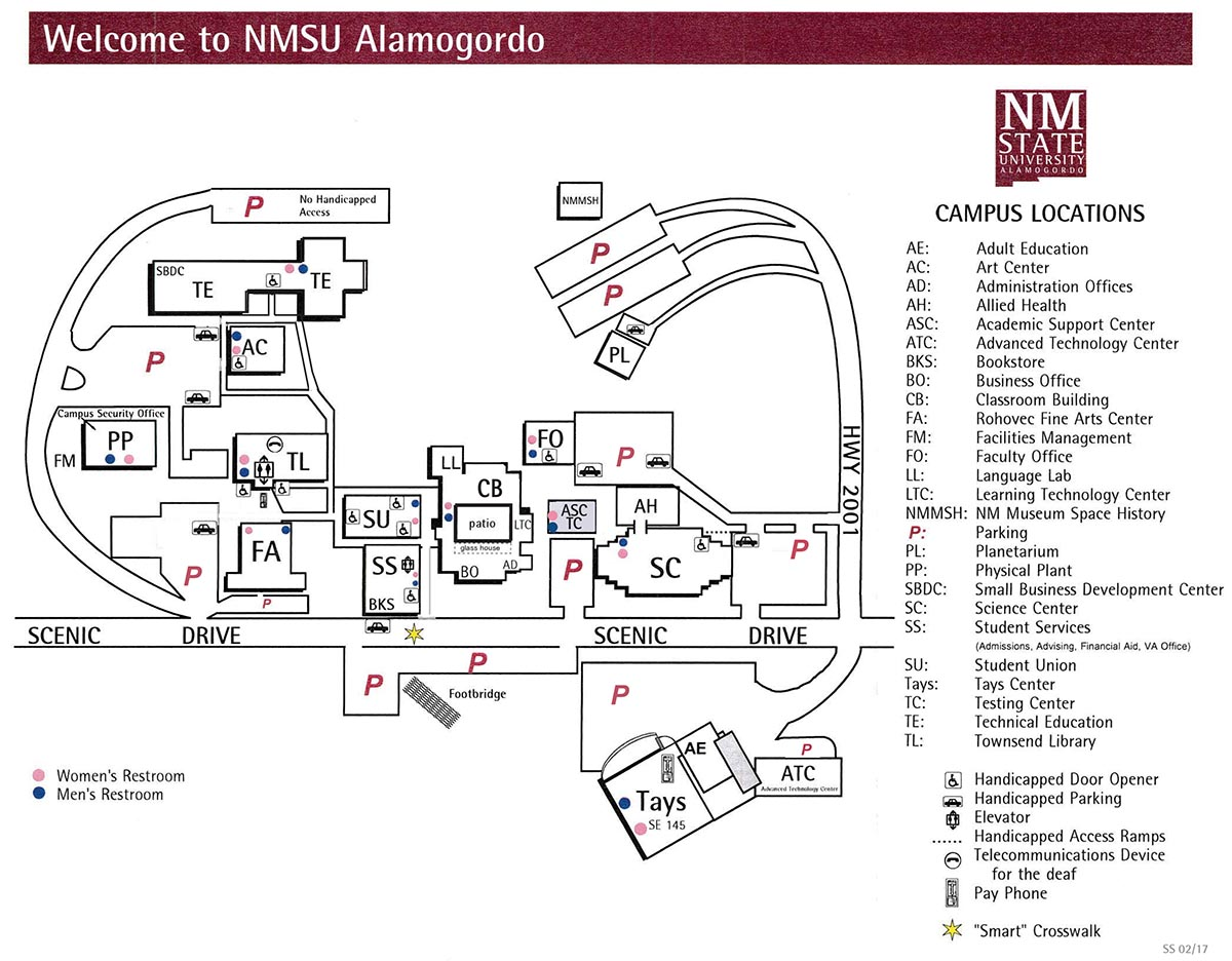 Nmsu Campus Map Campus Area and Maps | New Mexico State University Alamogordo
